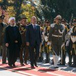 استقبال رسمی روحانی از رئیس جمهور عراق
