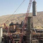 تاور فوق سنگین بخش فرایندی واحد الفین پروژه گچساران نصب شد